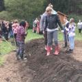 Hügelbeetbau Fachschule Sooß