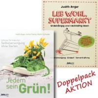 Beide Bücher günstig kaufen!-Doppelpack Aktion Jedem sein Grün und Leb wohl, Supermarkt
